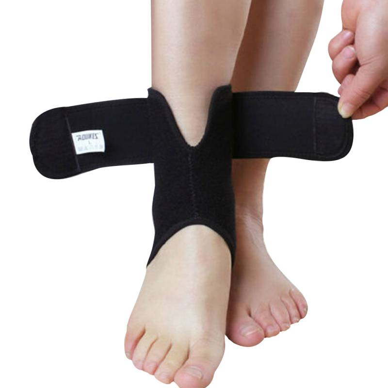 AOLIKES Adjustable Foot Ankle Brace Support Elastic Tendonitis Compression Wrap Sleeve Wrap(China (Mainland))