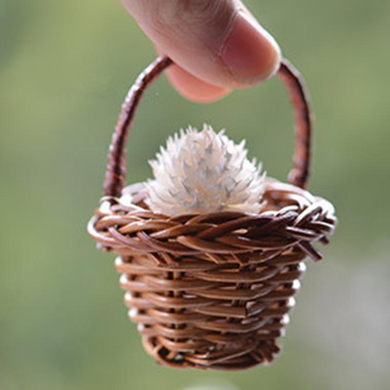 Promoci n de peque as cestas de paja compra peque as - Cestas de mimbre pequenas ...