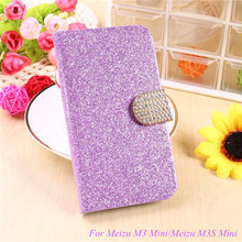 Buy Fashion Bling Glitter Flip Case Cover Meizu M3/Meizu M3 Mini/Meizu M3S/Meizu M3S Mini 5.0'' Mobile Phone Case Card Slot for $2.94 in AliExpress store