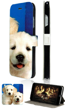 High Quality Mobile Phone Bags dog Design 2 Slot Card Luxury Flip Leather Case Cover For Iphone 6 6th Free Shipping