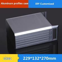 Buy 3U aluminum chassis Instrumentation aluminum chassis amplifier aluminum shell / case / enclosure / DIY box (229*132*270mm) for $77.03 in AliExpress store