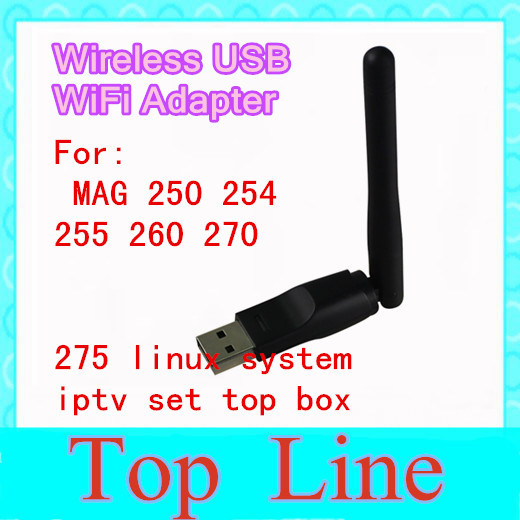 Wireless USB WiFi Adapter For MAG 250 254 255 260 270 275 linux system iptv set top box usb 150M wifi for mag250 stp(China (Mainland))