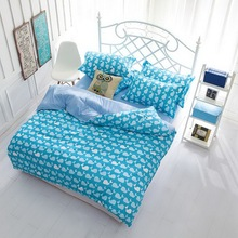New arrival! Reactive printed bedding sets, polyester cotton materials, bed comforter set, 4 pcs(China (Mainland))
