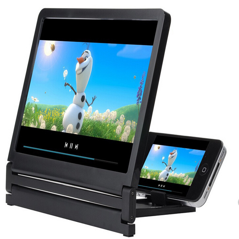 2015 Mobile Phone 3D Video Screen Amplifier Folding Enlarged Screen Magnifier Expander Cell Phone Stand Eyes Protection Display(China (Mainland))