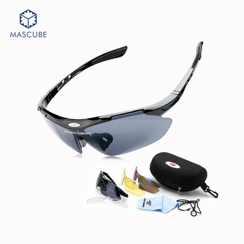 [MASCUBE]Men Eyewear Oculos Eyewears Goggles Sunglasses Outdoor Fun & Sports Sunglasses 3 Lens(China (Mainland))