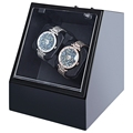 Wooden Automatic Watch Winder Auto Silent Watch Winder Irregular Shape Transparent Cover Wristwatch Box with US