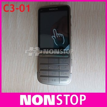 C3-01 Original Nokia c3-01 Unlocked 3G,GSM,WIFI,Bluetooth,JAVA,5MP Camera C3-01 Mobile Phone