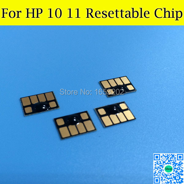 HP11 HP10 Cartridge Chips For HP Designjet 70 100 110 120 With For HP 11 10(China (Mainland))