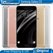Original Samsung Galaxy C5 Mobile Phone 5.2 inch Octa-Core 4GB RAM 32GB/64GB ROM LTE 16MP Android 2600mAh Dual SIM - Comwingo Electronic Technology Co .,Ltd store