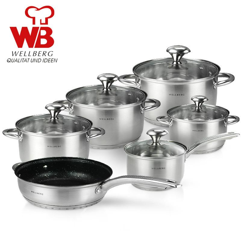 free shipping inox senior quality cooking pot set 10pcs