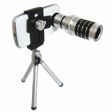 Buy Orbmart Aluminum Universal 12X Zoom Telescope Camera Lens + Mini Tripod + Adjustable Clip Samsung iPhone Doogee Xiaomi Phone for $17.91 in AliExpress store
