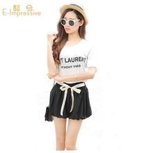 9 Colors Saia 2015 Summer Style Ribbons Chiffon Skirts Shorts Lady Loose Casual Bow Women Skirt Shorts Beach Wear Short Pants(China (Mainland))