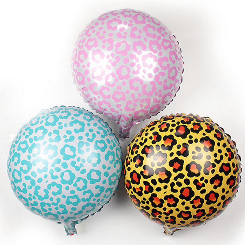 10pcs 18 inch Safari Animal Print Leopard zebra Spots Foil balloons,self sealing Helium balloon,kid's toy Globos.(China (Mainland))