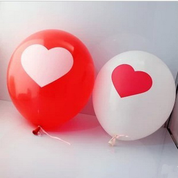 20pcs/lot 12inch Thicken Latex Balloons For Party Festival Wedding Decorations With Large Valentine Printed Heart AY870105(China (Mainland))