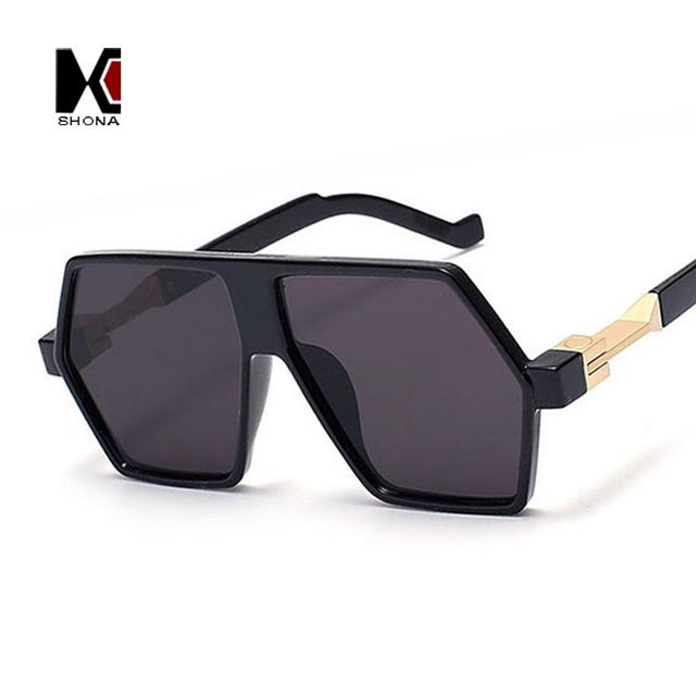 Мода площадь летом прохладно мужчины солнцезащитные очки уникальный женщины плоские ...