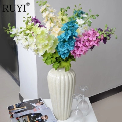 Artificial of the European long sticks of large feather grass set fake flowers living room floor silk flower decoration(China (Mainland))