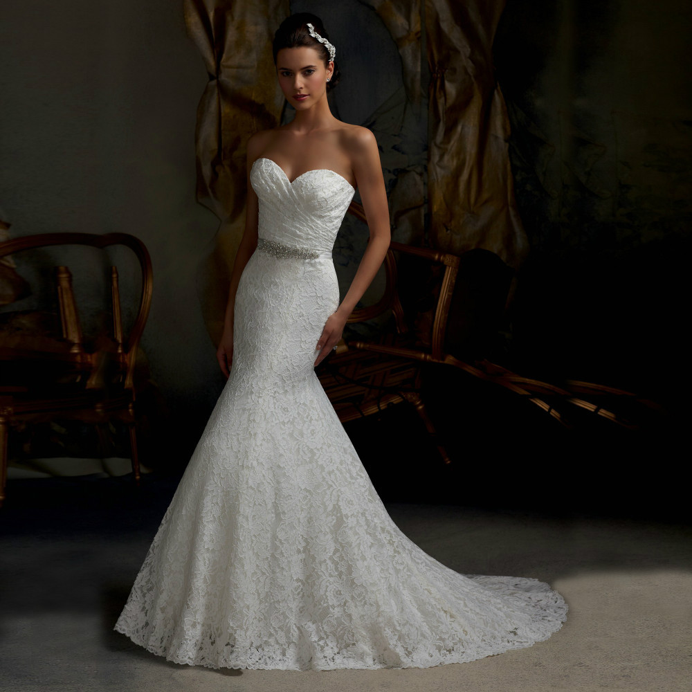 Sexy Mermaid Wedding Dresses with Crystals