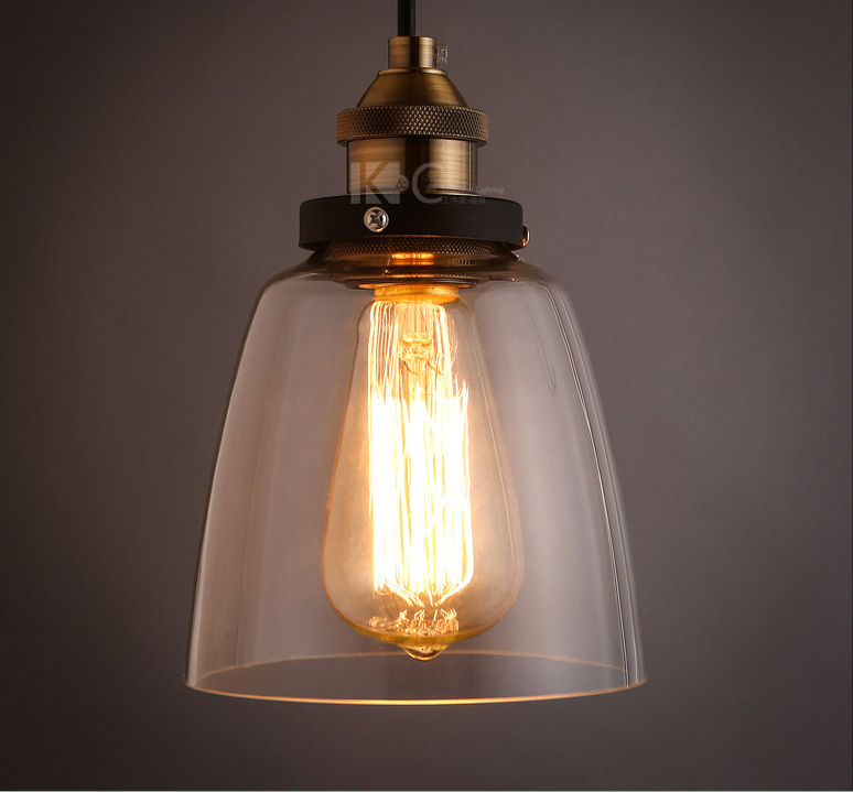 Free Shipping Country Style Glass Pendant Light Fixtures