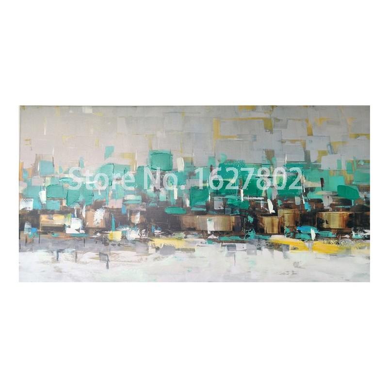 Abstract hand geschilderd olieverfschilderijen op canvas prints thuis moderne kunst aan de muur - Decoratie woonkamer aan de muur ...