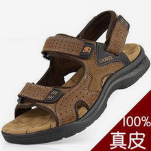 New 2016 Camel mens sandals Genuine leather cowhide sandals outdoor casual men summer leather shoes for men