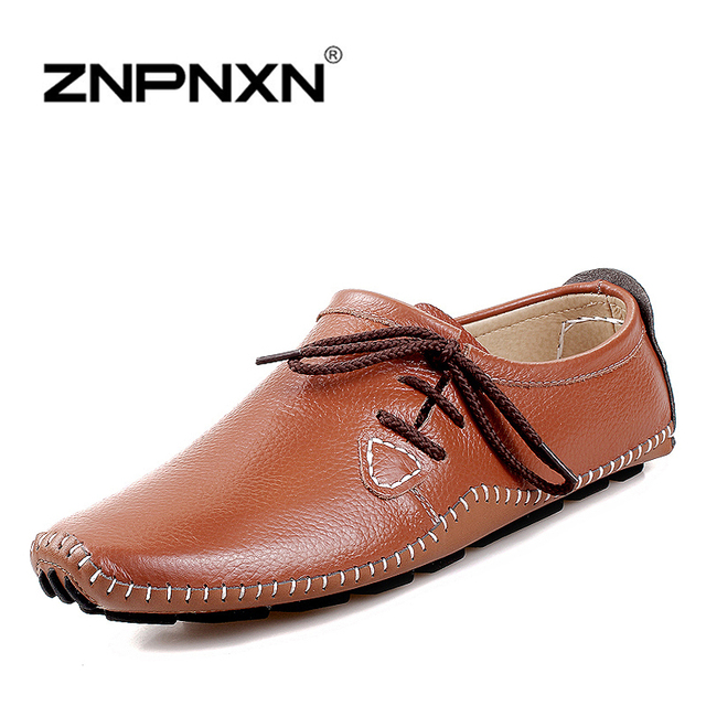 2015 новые люди квартиры из натуральной кожи туфли-men бездельников мокасины Sapatos ...