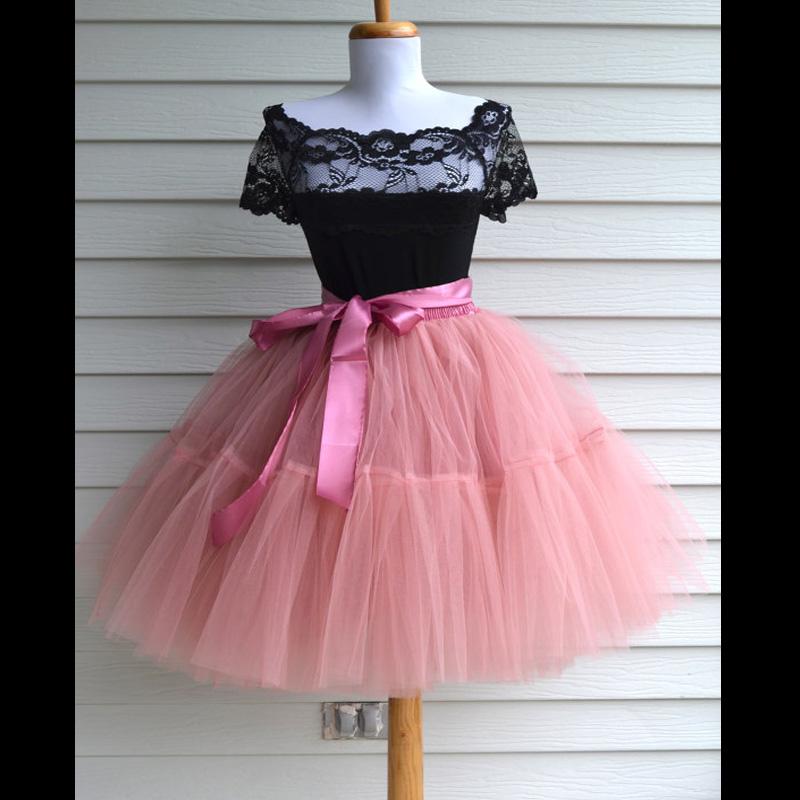 Extra Fluffy 2016 Tutu Tulle Skirts Midi skirt Women Fashion Party Design saias femininas formal faldas cortas(China (Mainland))