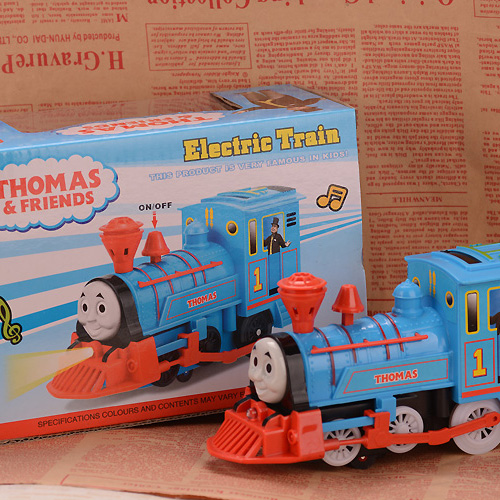 Wholesale Classic Electric Thomas Train With Light and Music Cheap Plasic Toys Vehicle Birthday Gift<br><br>Aliexpress