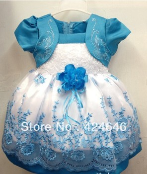 Fake two-piece Japanese and Korean version foreign trade girls the Puff Shaqun girl dress baby skrit