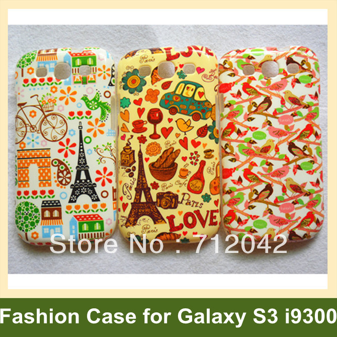 Fashion Keep Calm and Carry On Flower Bird Mustache Soft TPU Cover Case for Samsung Galaxy SIII s3 i9300 30pcs/lot Free Shipping