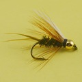 10PCS 6# Brown Color Deer Hair Gold Body Muddler Minnow Fly Bass <font><b>Fishing</b></font> Lure Steamers Trout Streamer Flies