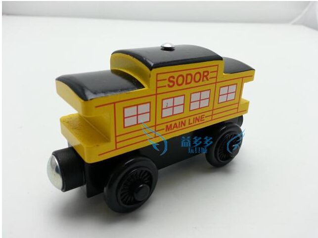 Beach Wood Train Toy Magnetic Thomas And Friends Yellow Cabin Crew Wooden Train Kids/Child Gift Christmas Gift(China (Mainland))