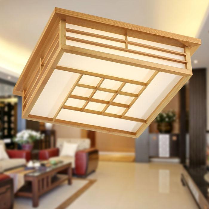 Br ve style japonais lampe faux clairage plafond tatami for Eclairage plafond chambre