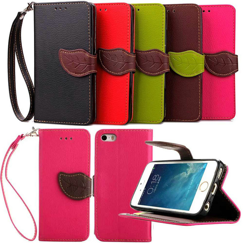 For iPhone 5C Luxury Leather Phone Case Flip Wallet Soft TPU Stand Fundas Back Case For Apple iPhone5C 5 C Cover(China (Mainland))