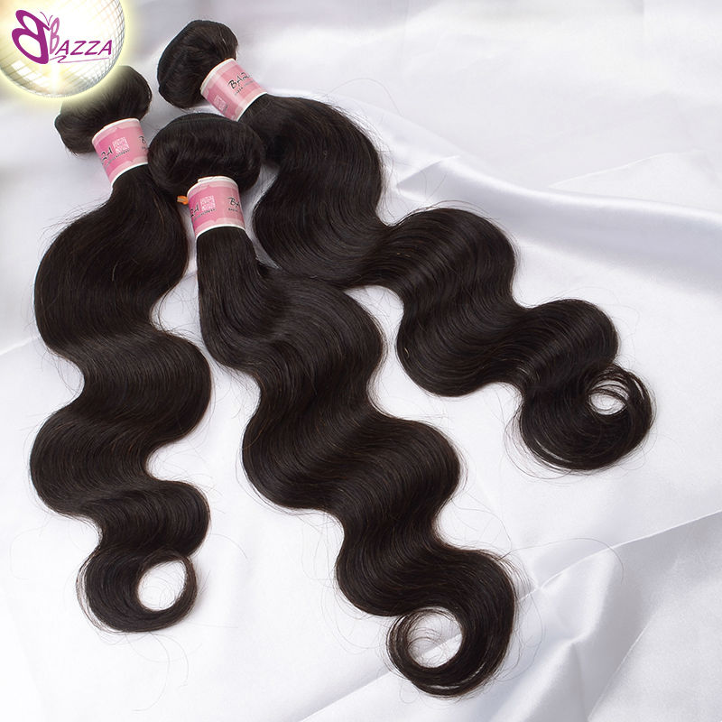 bazza Brazilian Virgin Hair Body Wave 100% Virgin Unprocessed Human Hair Thick and Heathy ends Weave Hair Extension 3pcs/lot(China (Mainland))