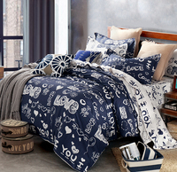 High Count Cotton Duvet Covers Set,Blue Bedding Sets King Size,Double Single Bed Set Twin/Queen/King size,bedclothes #HM1542