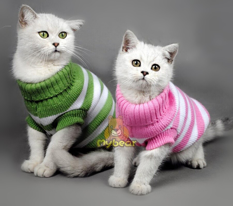 Wholesale 5PCS/lot Various Cat Clothes Pet Dog Sweater Cat Jumper Puppy clothes for Small Dog Cat Clothing(China (Mainland))