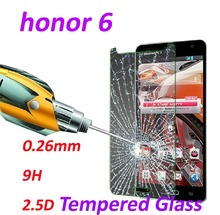 0.26mm 9H Tempered Glass screen protector phone cases 2.5D protective film For huawei honor 6