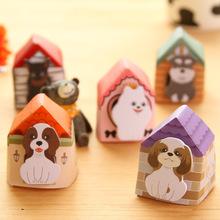 100pcs/lots Free Shipping Portable Dog Sticky Memo Mini Dog House Notepads Puppy House It Sticky Notes(China (Mainland))