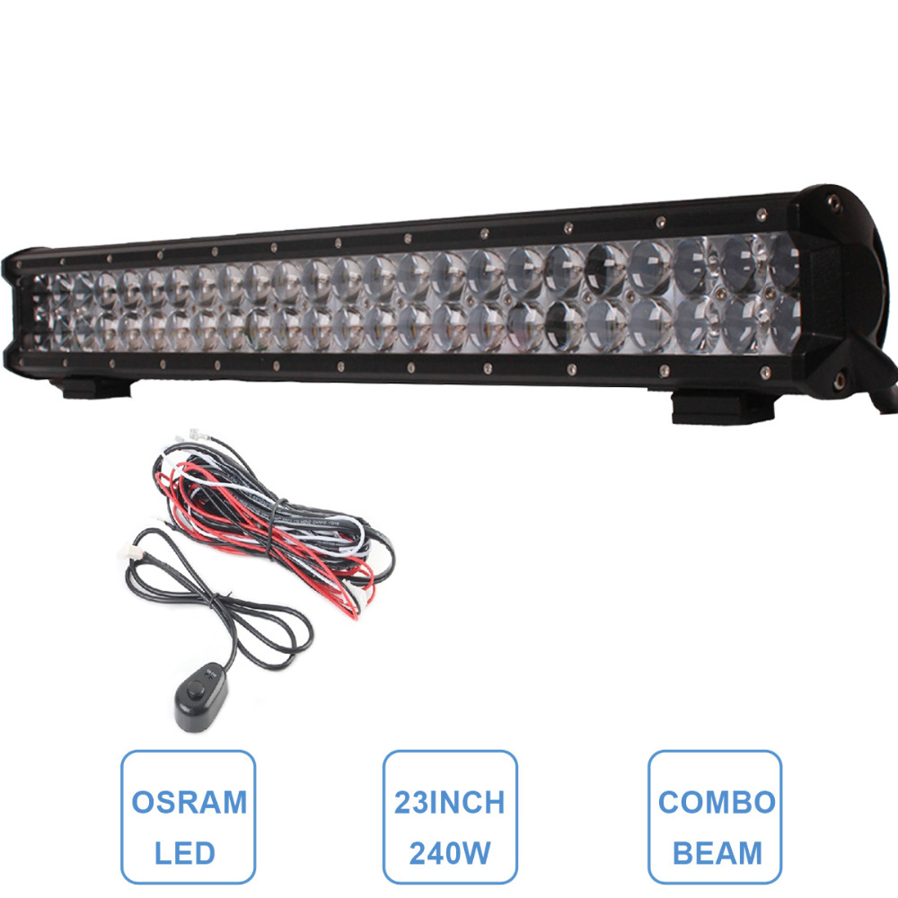 22'' 240W OSRAM OFFROAD LED LIGHT BAR COMBO BEAM CAR AUTO SUV BOAT 4X4 DRIVING HEADLIGHT BAR FOR JEEP CHEVY FORD LAND ROVER AUDI(China (Mainland))
