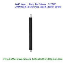 Buy 200N 20KG 44LBS load 11.5mm/s 0.46inch/s speed 100mm 4inch stroke 12V 24V DC hot sell mini tubular linear motor LA15 type for $52.00 in AliExpress store