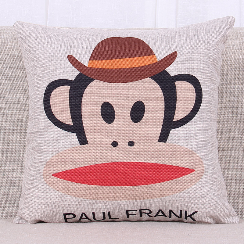 European Style IKEA Simple and Stylish Paul Homme Monkey Pillow Cartoon Cushion Nap Pillow Cute Pattern Cafe Decoration(China (Mainland))