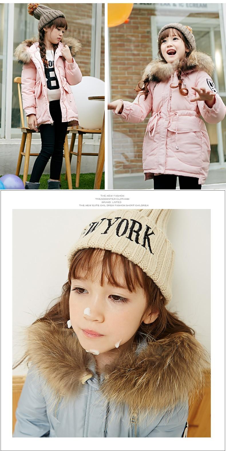 Скидки на Девушки зима хлопка-проложенный одежды детей утолщение тяжелые волосы принесли хлопка-ватник женщина долго пальто
