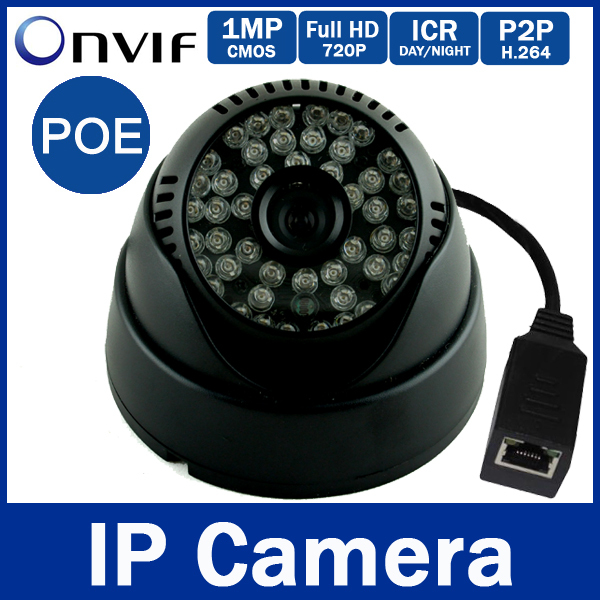 Гаджет  720p 1MP (960P 1.3MP Optional) PoE Indoor IP Camera CCTV  Network 3.6mm Lens ONVIF 48 IR Leds IR-CUT Filter Day&Night P2P  None Безопасность и защита