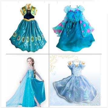 2015 New Children Dress Lolita Clothing For Girls Cinderella Girl Children's Clothes Elsa Kids Clothing Dresses Girls Costumes(China (Mainland))