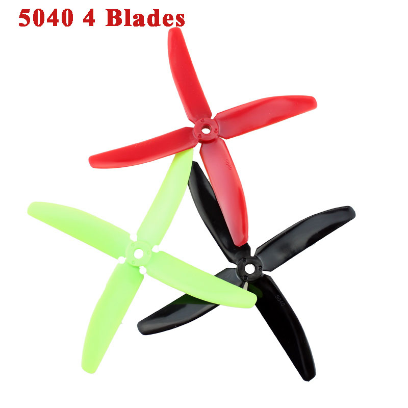 Hot New 12pcs 5040 4 blades V2 Prop CW/CCW Propeller For RC Quadcopter Multi-Copter(China (Mainland))
