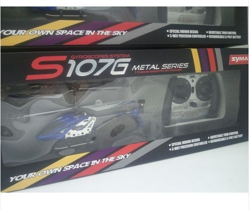 Original PACKAGING Syma S107G Helicopter 3CH Remote Contro Radio Control Metal S107G RC Helicopter With GYRO Free Shipping