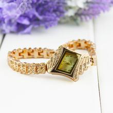 Moda nueva señora de reloj de lujo cristal de cuarzo Rhinestone pulsera 0SAS
