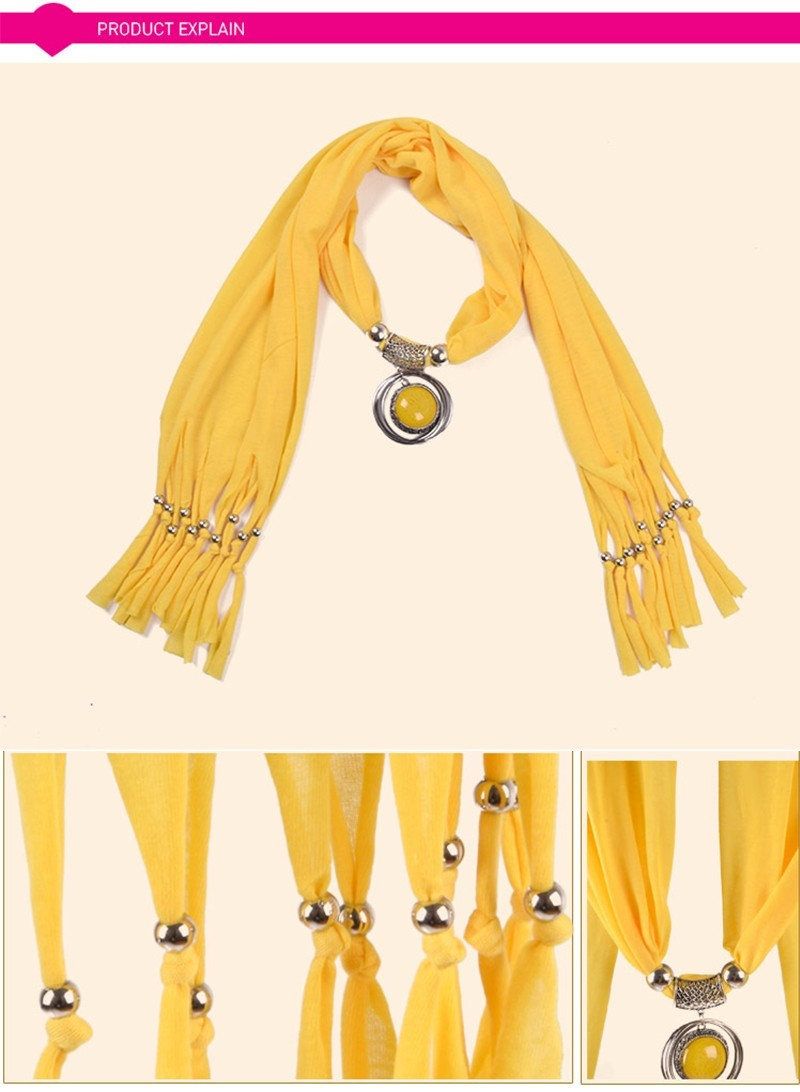 2016 Silk Women Scarf Jewelry Shawls and Scarves Tassels Scarf Necklace Women's Clothing Accessories Scarves AS047