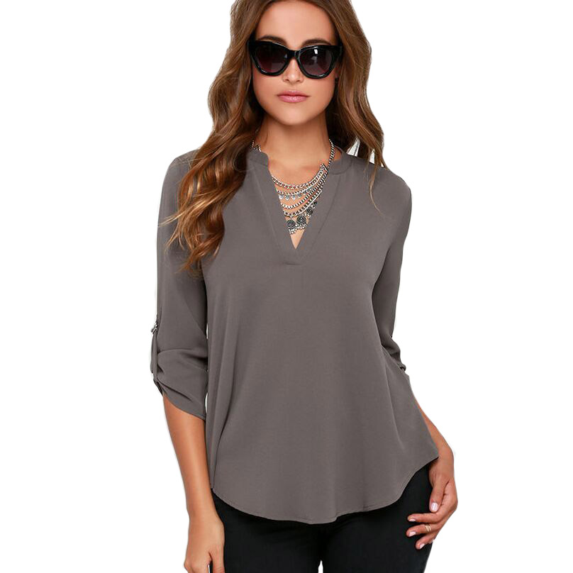 Блузка С V Образным Вырезом