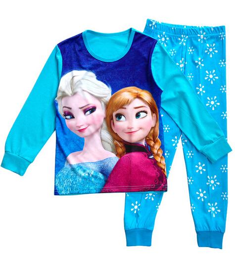 Boys Sleepwear Girls Pyjama Baby Clothes Children Clothing Set Kids Pijamas Sets Girls Snow Queen Elsa Anna Princess Pajamas set